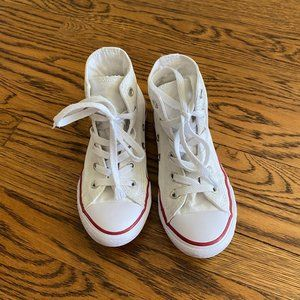 Converse - white high tops size 13.5